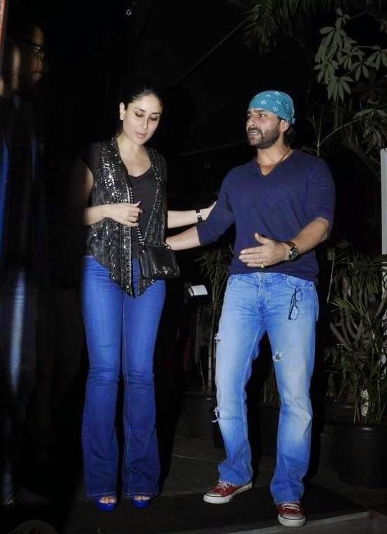 Saif And Kareena Were Spotted At The Nido Restaurant in Mumbai