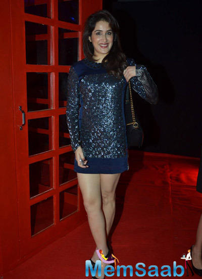 Sagarika Ghatge In Thigh Length Dress Was Looking Most Beautiful During The Hackett London First Store Launch Party