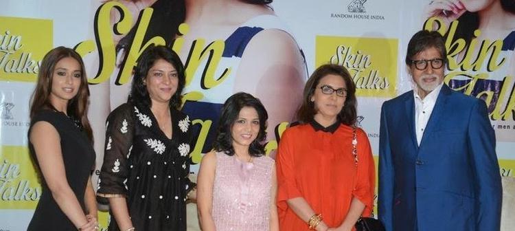 Ileana,Priya,Dr Jaishree,Neetu And Amitabh Clicked For Media During Dr Jaishree Sharad Book Launch