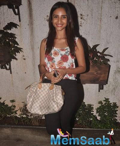 Patralekha Cool Smiling Look During The Special Screening Of Sonali Cable Movie