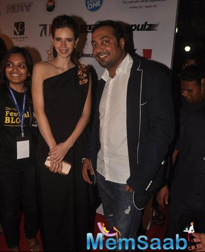 Kalki Koechlin And Anurag Kashyap Posed For Media At The Opening Ceremony Of 16th Mumbai Film Festival 2014