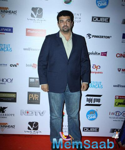 Siddharth Roy Kapur Posed On Red Carpet At The Opening Ceremony Of 16th Mumbai Film Festival 2014