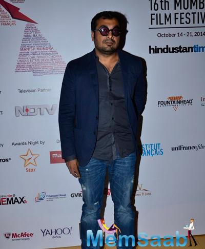 Anurag Kashyap Posed For Camera During Day 5 MAMI Bash