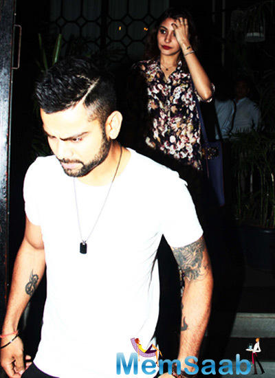 Virat Kohli And Anushka Sharma Snapped At The Indian Super League Match