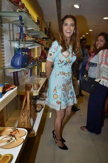Esha Gupta Laughing Look At The Launch Of A New Bata Store