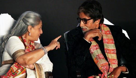 Jaya Bachchan Serious Discussion With Hubby Amitabh Bachchan During The Opening Ceremony Of 20th Kolkata Film Fest