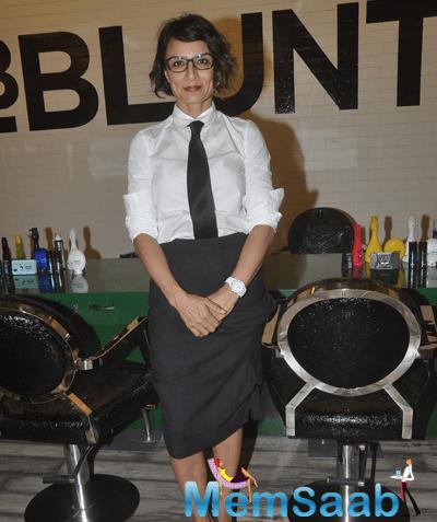 Adhuna Bhabani Akhtar Strike A Pose At The Launch Of BBlunt Salon
