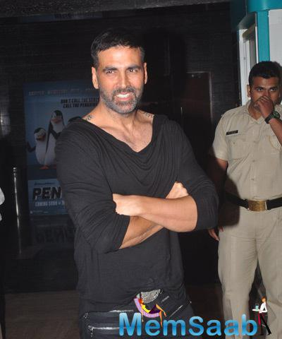 Akshay Kumar Strikes A Pose During The Trailer Launch Of Baby Film