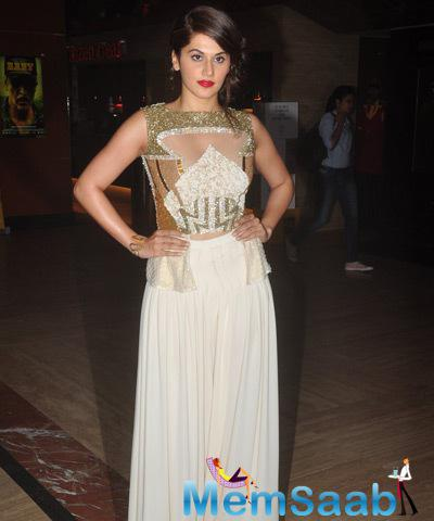 Taapsee Pannu Strikes A Stunning Pose During The Baby Film 1st Look Launch