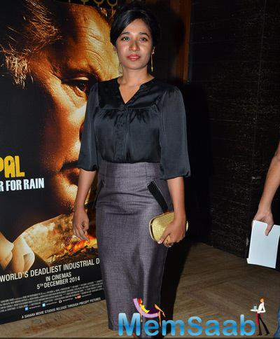 Tannishtha Chatterjee Posed At Bhopal A Prayer For Rain Premiere