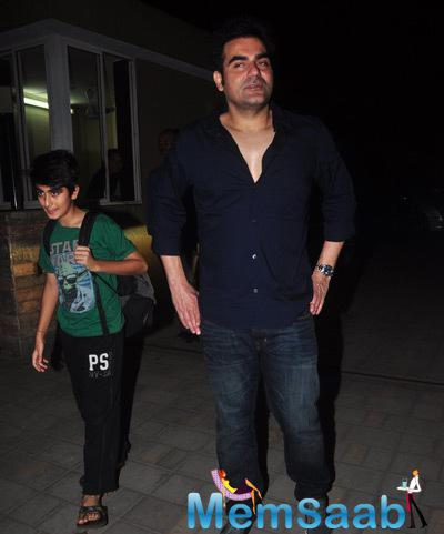 Arbaaz Khan Spotted With His Son During His Mom Salma Khan Birthday Bash