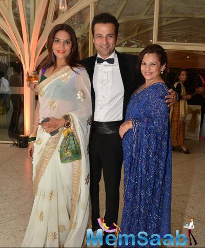 Neelam Singh,Rohit Roy And Manasi Joshi Roy Clicked At Purabi Joshi Wedding Ceremony