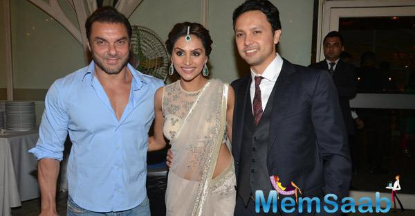Sohail Khan Posed With Newly Wed Purabi Joshi And Valentino Fehlmann