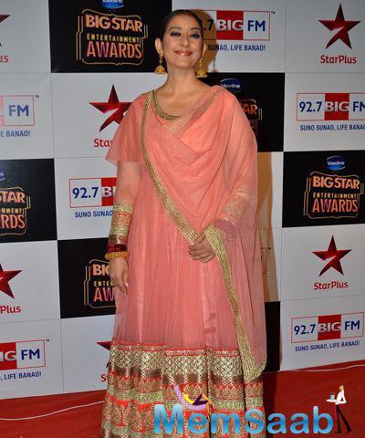 Manisha Koirala Attend BIG Star Entertainment Awards 2014
