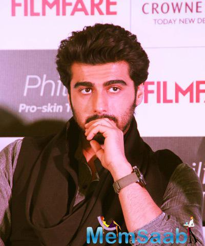 Arjun Kapoor Dashing Stunning Look During The Launch Of Filmfare Cover