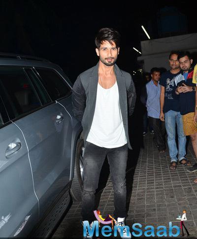 Dashing Hero Shahid Kapoor A Screening Of Ugly Organised At PVR In Juhu