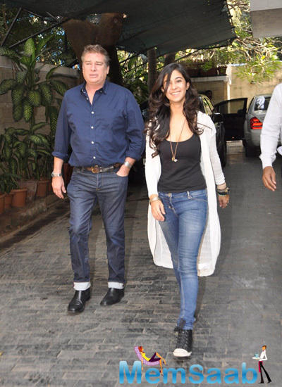 Shashi Kapoor's Younger Son Karan Kapoor Arrived With His Daughter From London