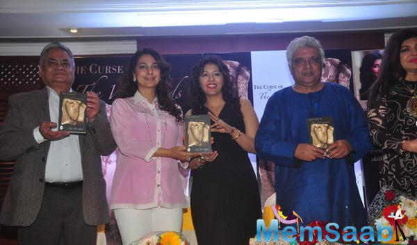 Juhi Chawla And Javed Akhtar Launched Puja Miri Yajnik Book The Curse Of The Winwoods