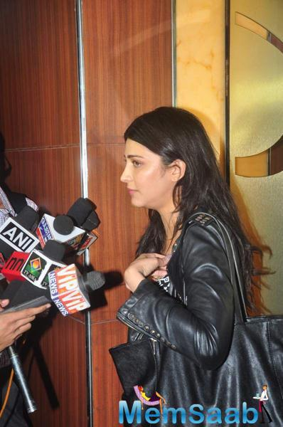 Shruti Haasan Attend A Press Meet During The My French Film Festival Event