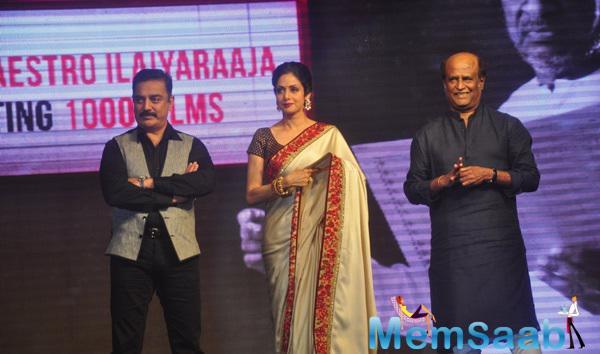 Kamal Haasan,Sridevi Kapoor And Rajinikanth Graced At The Shamitabh Movie Audio Launch