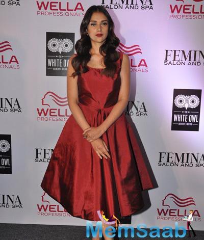 Aditi Rao Hydari Gorgeous Stunning Look During The Cover Launch Of Femina Salon And Spa Magazine