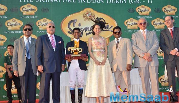 Vijay Mallya,Kangna Ranaut and Others Clicked At The McDowell Signature Indian Derby 2015