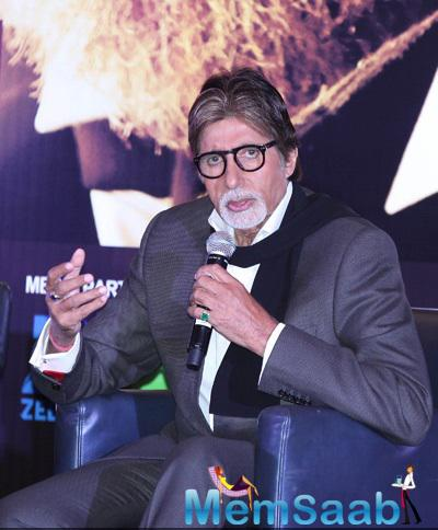 Amitabh Bachchan During The Pressmeet Of Shamitabh In Dubai