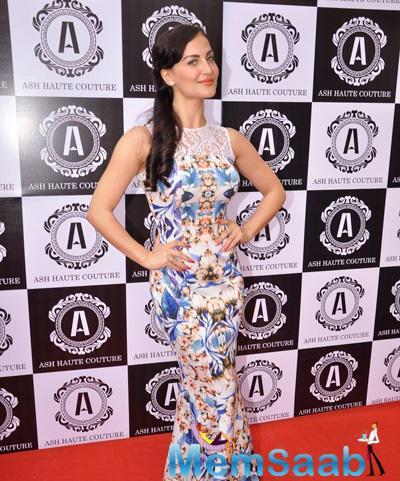 Elli Avram Attended Ashna Gupta Kalra Flagship Store The Ash Haute Couture