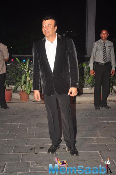 Veteran Music Composer Anu Malik Posed At Smita Thackerey Son Wedding Reception