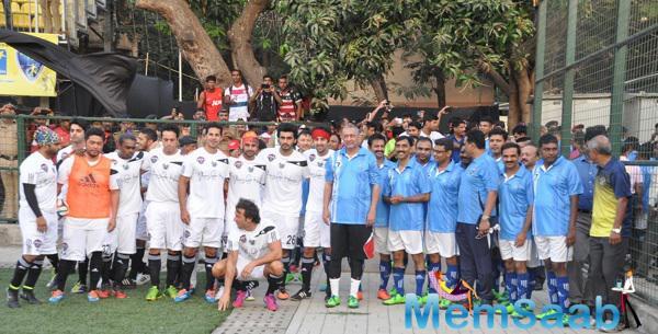 Bollywood Stars Played A Friendly Football Match In Mumbai