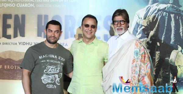 Amitabh And Aamir At Trailer Launch Of Hollywood Film Broken Horses