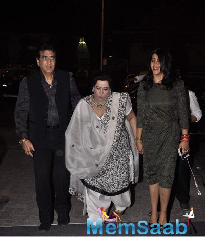 Jeetendra With His Wife Shobha Kapoor And Ekta At Nirav Modi's Store Launch