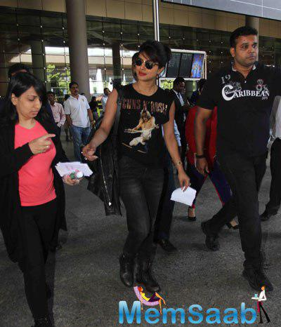 Priyanka Chopra Back From New York After Completing Pilot Series For Quantico