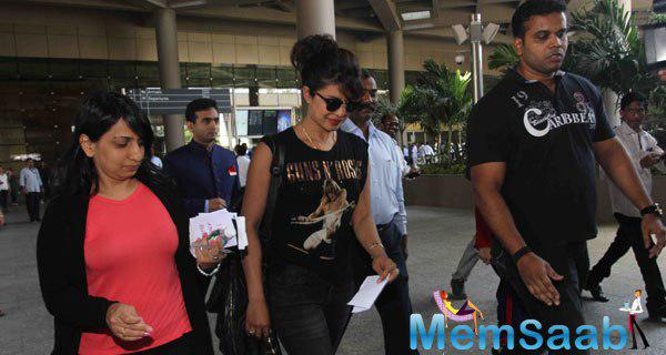 Priyanka Chopra Snapped At Mumbai International Airport On Arrival From New York