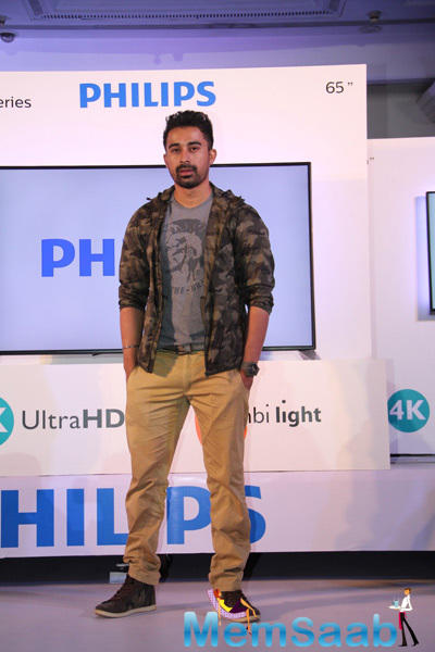 Rannvijay Singh At The Launch Latest Range Of Philips TV