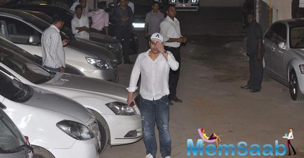 Arbaaz Khan At Outside Of Salman's House