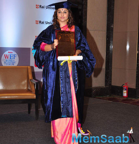 Vidya Awarded For Her Exceptional Contribution At Indian Film Industry And For Her Contribution To Empowering Womanhood In The Country
