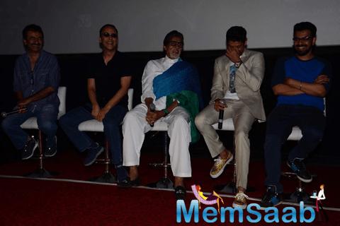 Rajkumar,Vidhu Vinod,Big B And Farhan Discussed During The Trailer Launch Of Wazir