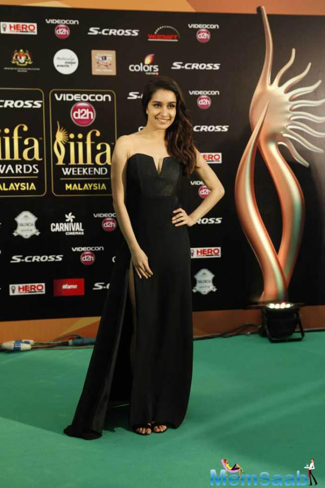 Another Minimalistic Look Was That Of Shraddha Kapoor, Who Wore A Black Mason Dress