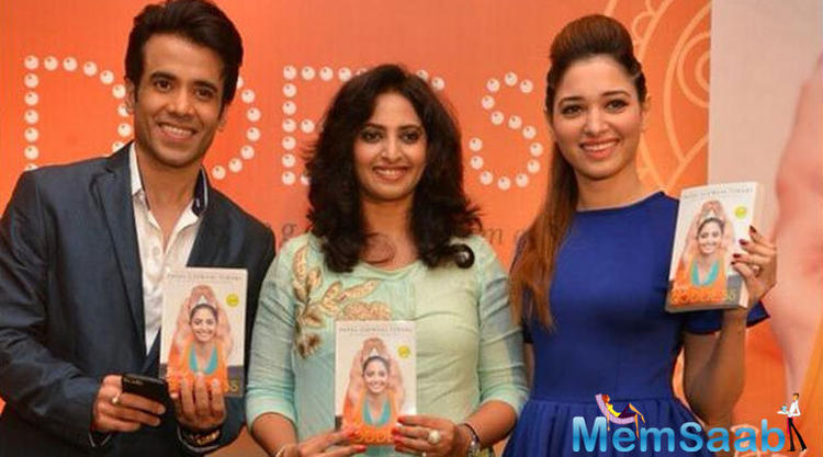 Tusshar Kapoor And Tamannaah Bhatia Launched Payal Gidwani Tiwari Book Body Goddess