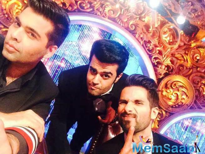 Karan Johar,Manish And Shahid Having Fun During First Day Of Jhalak Dikhhla Jaa 8