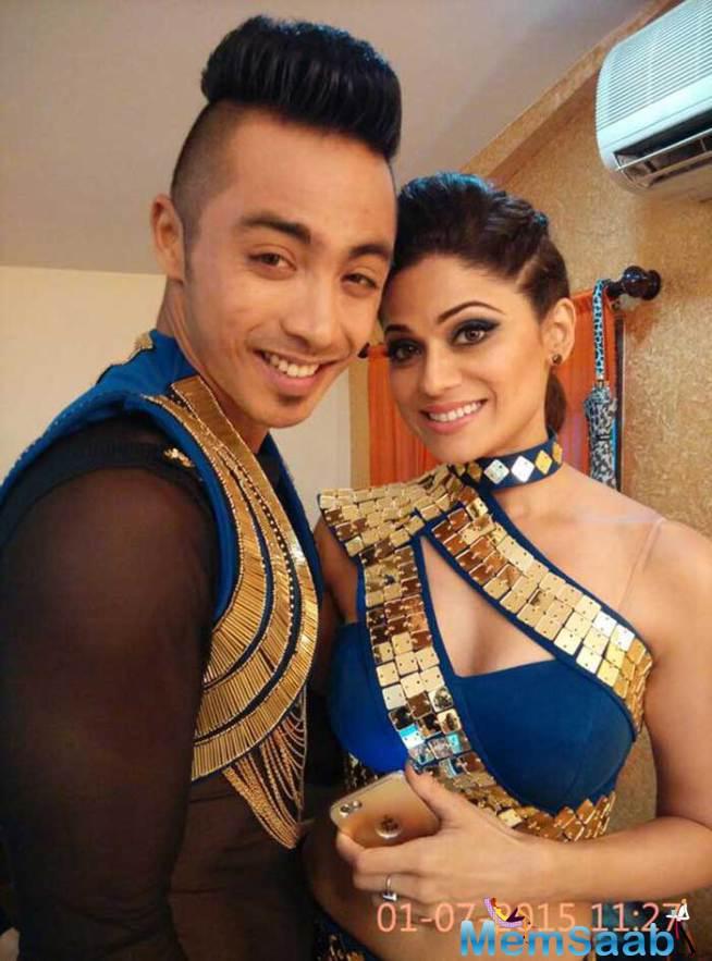 Shamita Shetty Seen Here Is She Posing With Her Dance Partner Deepak