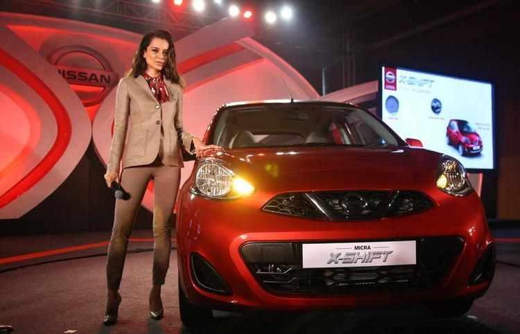 2015 Nissan Micra X-Shift Car In India Inaugurated By Kangana Ranaut