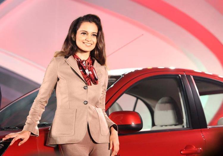 Kangana Ranaut Unveil The Nissan Micra X-Shift Car