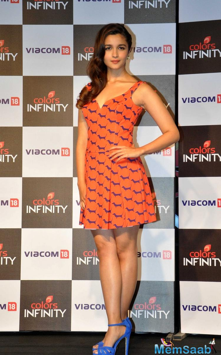 Alia Bhatt Look Gorgeous During The Launch Of Colors Infinity Channel