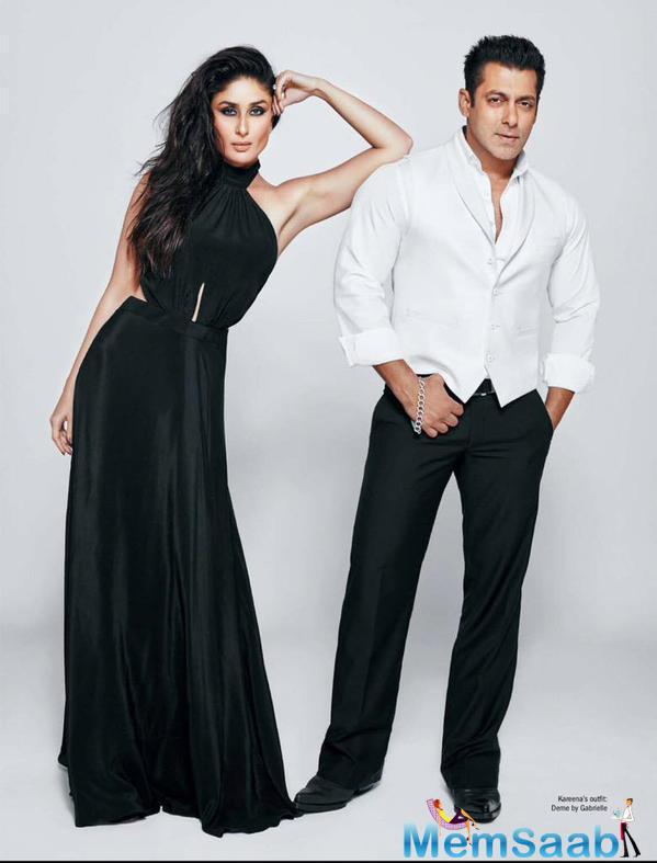 Salman And Kareena On Filmfare Magazine Cover July 2015