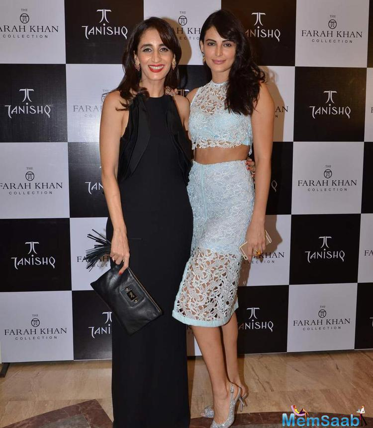 Farah Khan Ali Posed With Mandana Karimi During Her New Collection Launch With Tanishq