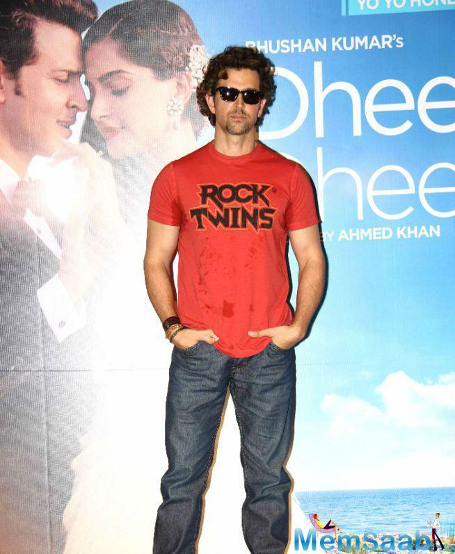 Hrithik Roshan Looks Dashing During The Launch Of Dheere Dheere Music