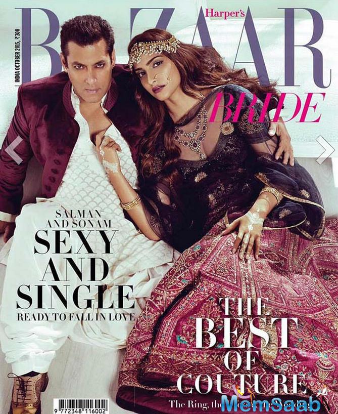 Salman And Sonam Makes A Sizzling Chemistry For Harper Bazzar Magazine