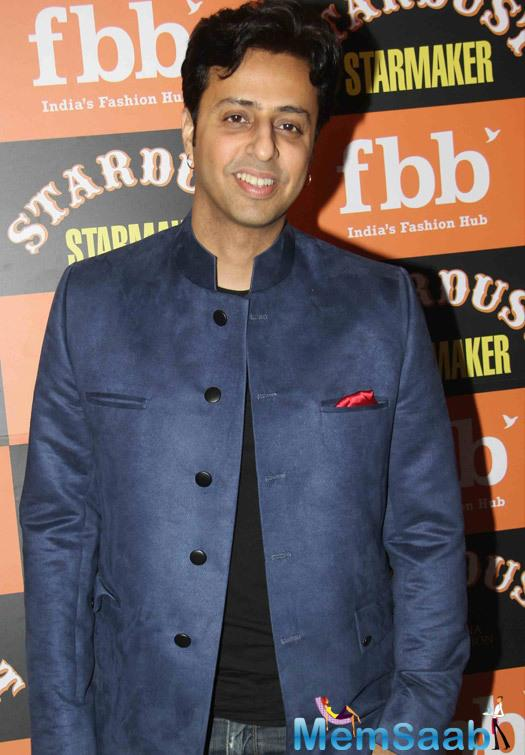Salim Merchant Flashes Smile At The Launch Of Stardust Starmaker